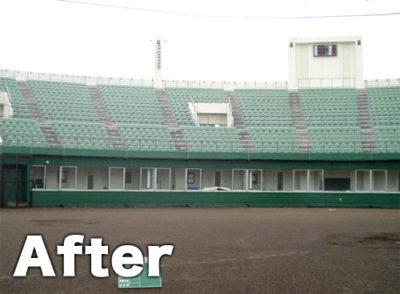 公共施設外壁塗装(野球場)